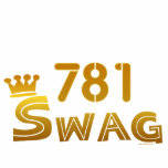 781 Area Code Swag Cut Outs