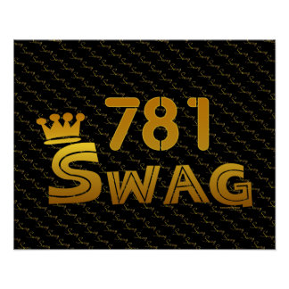 781 Area Code Swag Posters