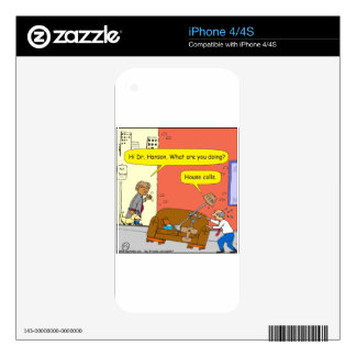 781 house calls cartoon decal for the iPhone 4S