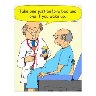 782 take this pill before bed cartoon letterhead