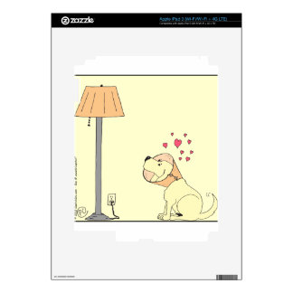 784 dog loves lamp Cartoon Decals For iPad 3