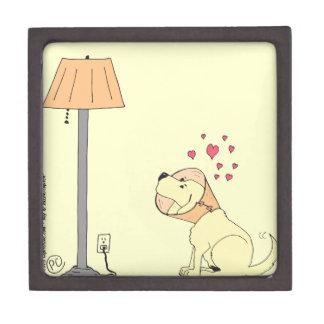 784 dog loves lamp Cartoon Gift Box