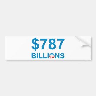 787 BILLIONS BUMPER STICKERS