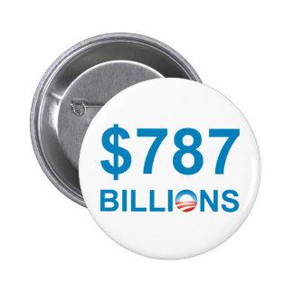 787 BILLIONS PINBACK BUTTON
