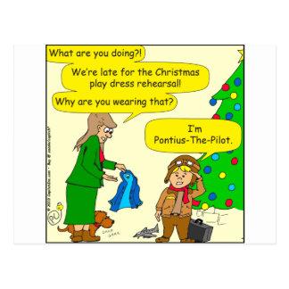 787 Pontius Pilate cartoon Postcard
