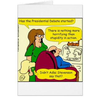 789 presidential debate cartoon card