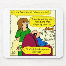789 presidential debate cartoon mouse pad