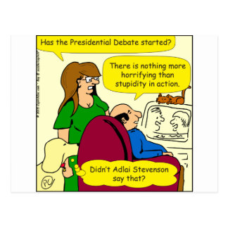 789 presidential debate cartoon postcard