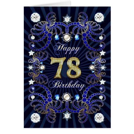 78.a tarjeta de cumpleaños con las masas de joyas