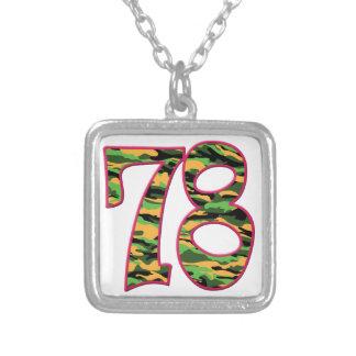 78 Age Camo Square Pendant Necklace