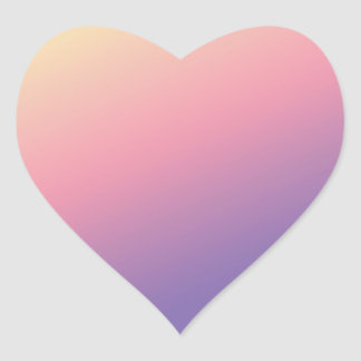 78 Artist Created Color Shades on HEART SHAPED Heart Sticker