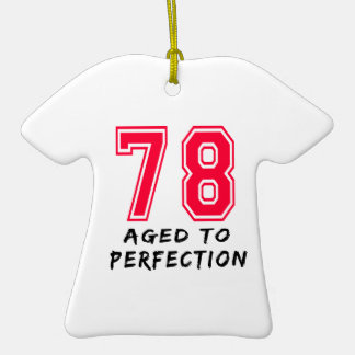 78 envejeció al diseño del cumpleaños de la perfec adorno de reyes