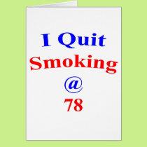 78  I Quit Smoking Card