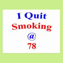 78  I Quit Smoking Postcard