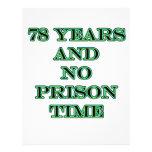 78 ninguna hora de prisión membrete personalizado