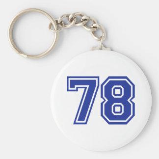 78 - número llaveros personalizados
