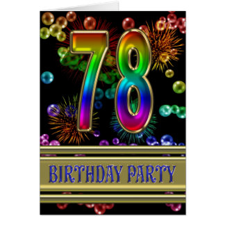78.o Invitación de la fiesta de cumpleaños Felicitacion