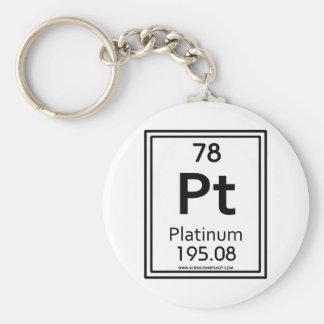 78 Platinum Basic Round Button Keychain