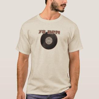 78 RPM Record 1929 Brown T-Shirt