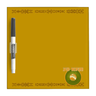 78 RPM Record, Green & Orange Dry Erase Board