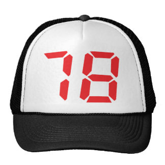78 setenta y ocho números digitales del despertado gorra