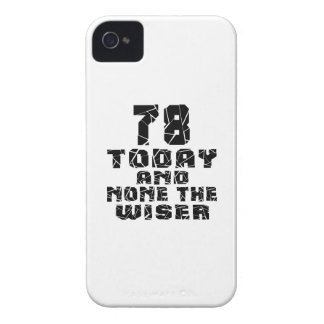 78 Today And None The Wiser iPhone 4 Cover