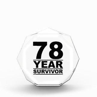 78 year survivor acrylic award
