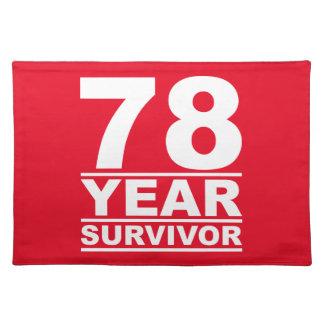 78 year survivor placemat