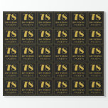 """[ Thumbnail: 78th Birthday ~ Art Deco Inspired Look """"78"""", Name Wrapping Paper ]"""