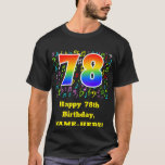 [ Thumbnail: 78th Birthday: Colorful Music Symbols, Rainbow 78 T-Shirt ]