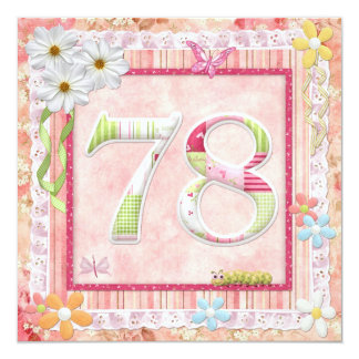 78th birthday party scrapbooking style card
