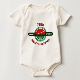 """78TH INFANTRY DIVISION """"JERSEY LIGHTNING"""" DIVISION BABY BODYSUIT"""