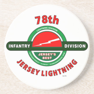 """78TH INFANTRY DIVISION """"JERSEY LIGHTNING"""" DIVISION COASTER"""