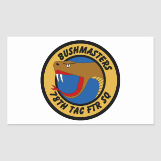 78th Tactical Fighter Squadron - Bushmasters Rectangular Sticker