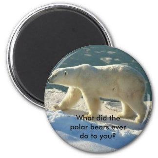 792px-Polar_Bear_2004-11-15, What did the polar... 2 Inch Round Magnet