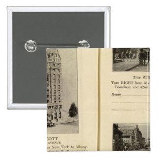 79496 Hotel Wolcott Broadway at 31st & 42nd Buttons