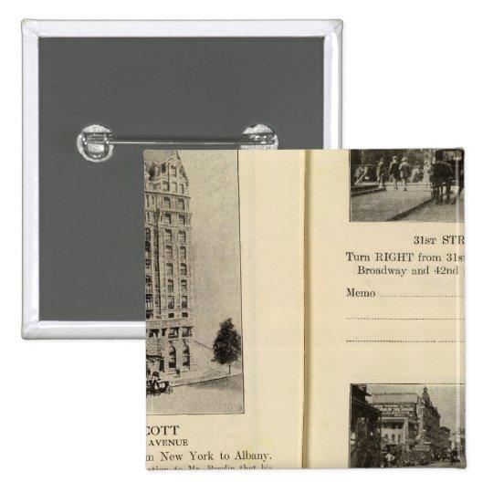 79496 Hotel Wolcott Broadway at 31st & 42nd Pinback Button