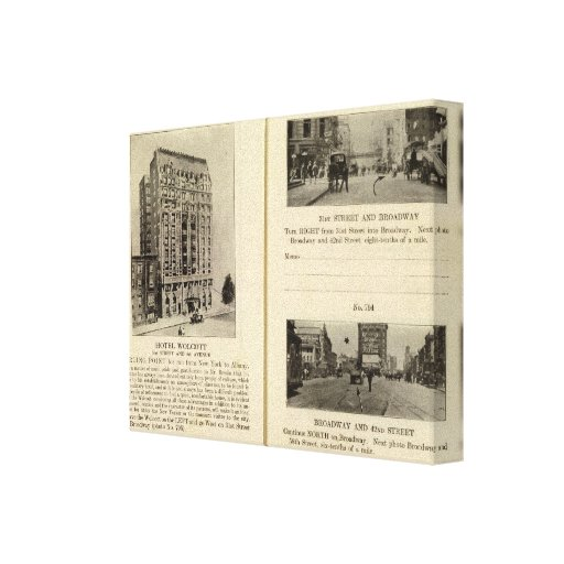 79496 hotel Wolcott Broadway en 31ro y 42.o Lienzo Envuelto Para Galerias