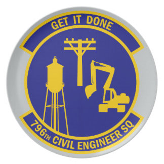 796th Civil Engineer Squadron - Get It Done Dinner Plate