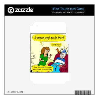 798 I've seen dead people nicer looking cartoon iPod Touch 4G Decal
