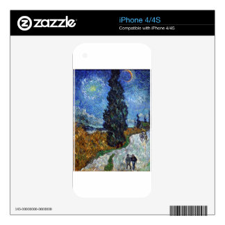 798px-Van_Gogh_-_Country_road_in_Provence_by_night iPhone 4 Decal