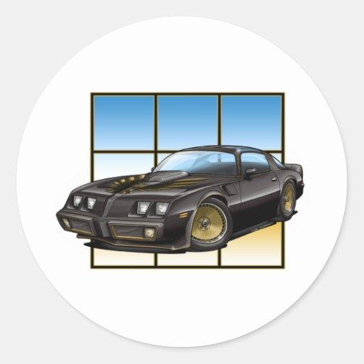 79-81 SE Bandit TA Classic Round Sticker