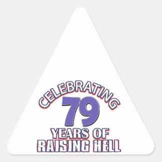 79 años de infierno de aumento pegatina triangular