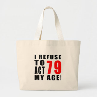 79 birthday design tote bags