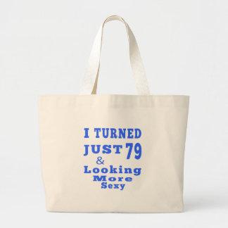 79 birthday designs tote bag