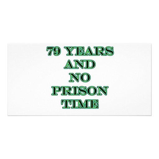 79 ninguna hora de prisión tarjeta personal con foto