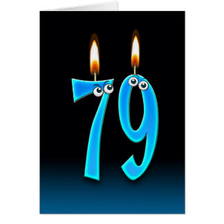 79.o Velas del cumpleaños Tarjeta De Felicitación