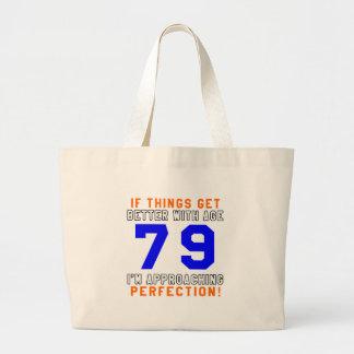79 Perfection Birthday Designs Canvas Bag