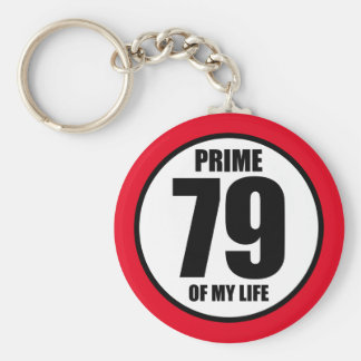 79 - prime of my life keychain