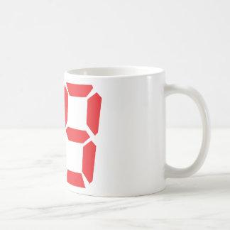 79 setenta y nueve números digitales del despertad taza de café